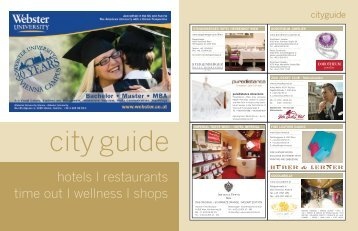 hotels I restaurants time out I wellness I shops - Vienna Deluxe