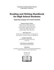 English - Reading & Writing Handbook For High School Students