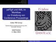 Vortragspräsentation - DANTE eV