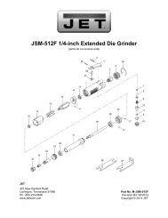 JSM-512F 1/4-inch Extended Die Grinder - JET Tools