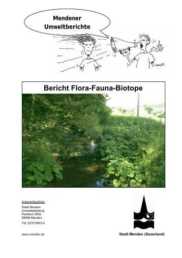 Bericht Flora-Fauna-Biotope