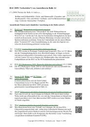 BAU 2009: Vorberichte*) von Ausstellern in Halle A1 - Baulinks
