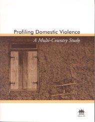 Profiling Domestic Violence