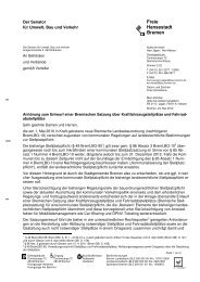Anhörungsschreiben - Der Senator für Umwelt, Bau und Verkehr ...