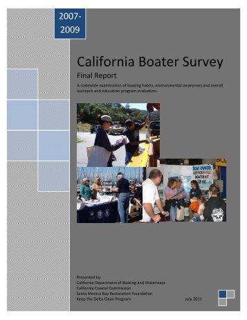 California Boater Survey - California Coastal Commission - State of ...