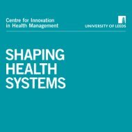 SHAPING - Centre for Innovation in Health Management - University ...