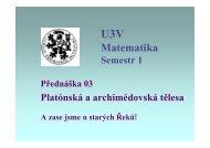 Přednáška č. 3 - Pf UJEP