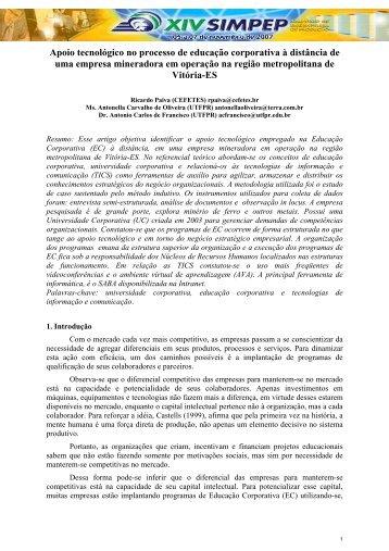 8. apoio tecnológico no processo de educação corporativa ... - UTFPR