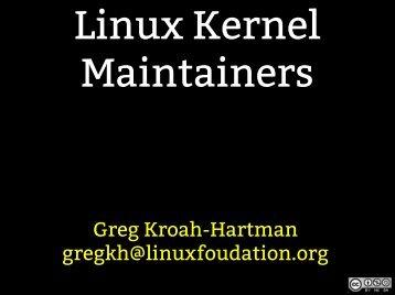 Linux Kernel Development - Linux Foundation Events