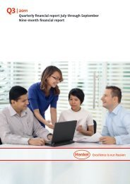 Henkel: Q3 2011 - Quarterly financial report July through September ...
