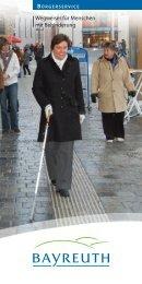 Wegweiser für Menschen mit Behinderung - Stadt Bayreuth