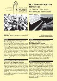 Anmeldeflyer - Amt für Kirchenmusik