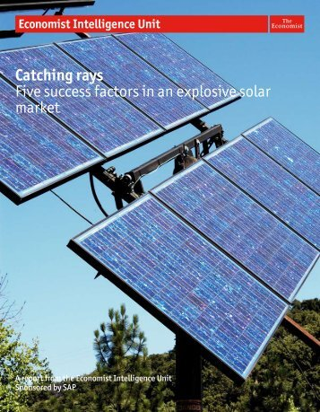 Catching rays Five success factors in an explosive solar market