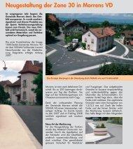 Neugestaltung der Zone 30 in Morrens VD - Signal AG