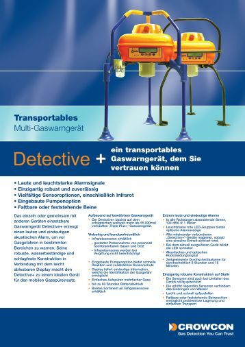 Datenblatt vom Detective+ (pdf) - Gas Sensor Innovation