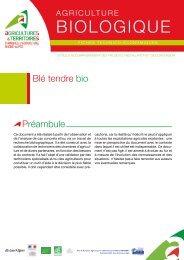 Blé tendre bio - Chambres d'Agriculture de Rhône-Alpes