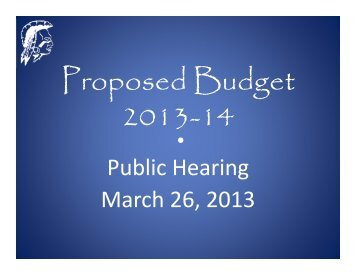 2013-2014 Proposed Budget - Monroe Township Public Schools
