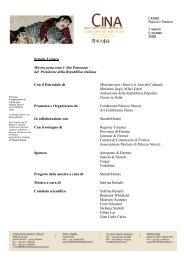 Scheda Tecnica Mostra posta sotto l'Alto Patronato ... - Palazzo Strozzi