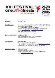 XX FESTIVAL DEL CINEMA LATINO AMERICANO