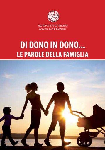 Di dono in dono… Le parole della famiglia - Chiesa di Milano