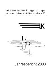 Jahresbericht 2003 (PDF) - Akaflieg Karlsruhe