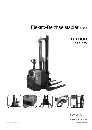 Elektro-Deichselstapler 1,35 t