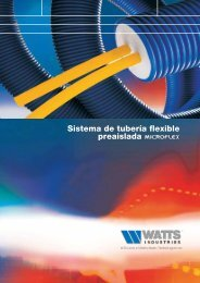 Sistema de tubería flexible preaislada - Watts Industries