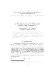 Applicable Analysis and Discrete Mathematics ... - doiSerbia