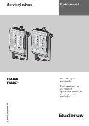 Servisný návod FM456 FM457 - Buderus