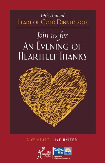 An Evening of Heartfelt Thanks - United Way of Western Connecticut