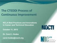 Hodes presentation at NCLA Best Practices October 2012