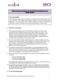 Good Practice Guidance for Social Work practised in the ... - ADCS