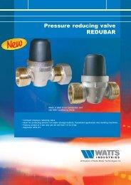 Pressure reducing valve REDUBAR - Watts Industries
