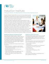 Induction Institute - New Teacher Center