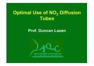 Factors affecting Diffusion Tube Performance - IAPSC