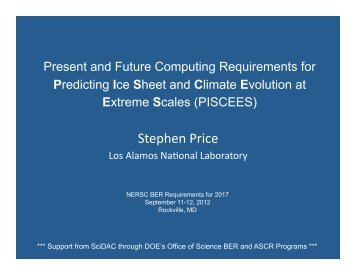 Present and Future Computing Requirements for ... - NERSC