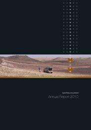 Annual Report 2010 - Syrah Resources Ltd
