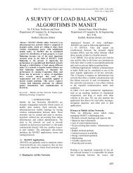 a survey of load balancing algorithms in manet - Engineering ...