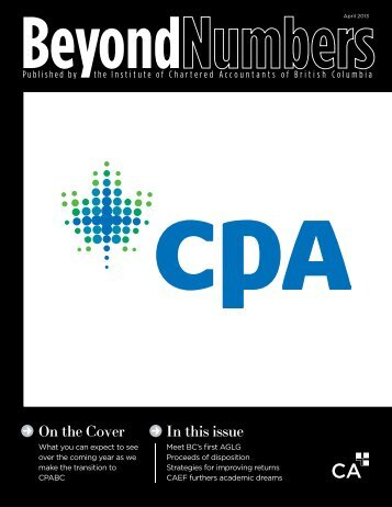 In this issue On the Cover - Institute of Chartered Accountants of BC