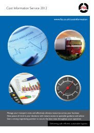 Cost Information Service 2012 - Freight Transport Association