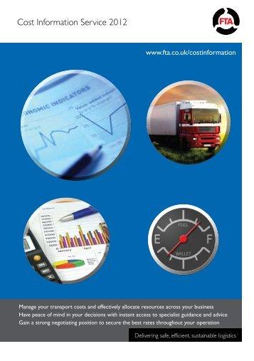 Cost Information Service 2012 - Freight Transport Association