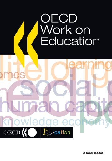 OECD Work on Education - Organisation for Economic Co-operation ...