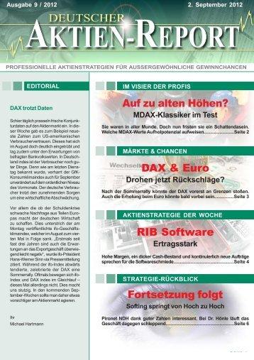 RIB Software - Deutscher Aktien-Report