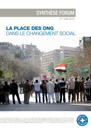 La place des ONG dans le changement social - Médecins du Monde