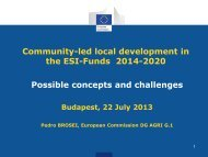 Community-led local development in the ESI-Funds 2014-2020 ...
