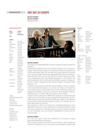 ONE DAY IN EUROPE - Berlinale