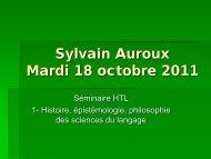 powerpoint de la conférence (pdf ) - Laboratoire d'histoire des ...