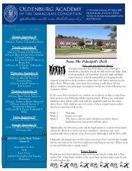 September 19 - Oldenburg Academy