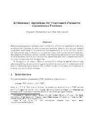 Evolutionary Algorithms for Constrained Parameter Optimization ...