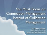 You Must Focus on Connection Management Instead of Collection ...
